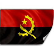 Sticker (Decal) with Flag of Angola