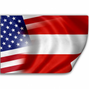 Sticker (Decal) with Flag of Austria and USA