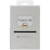 Project Life by Becky Higgins 4 X 6 Textured Cardstock - Midnight Edition