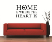 Toprate(TM) HOME IS WHERE THE HEART IS - House Love Family Design - Vinyl Wall Room Decal Sticker