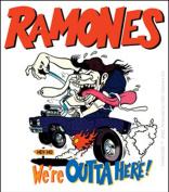 The Ramones Outta Here Sticker