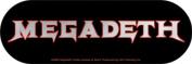 Megadeth Band Logo Sticker