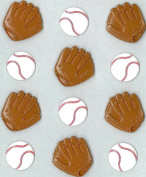 Jolee's Boutique Cabochons Dimensional Stickers, Baseball Mitt