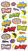 EK Success Brands Decorative Sticko Stickers, Punch Captions