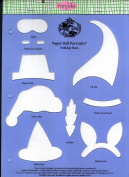 Accucut Jill's Paper Doll Template - Paper Doll Portraits - Holiday Hats