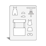 Accucut Jill's Paper Doll Template - Child's Play