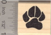 Dog Paw Print Rubber Stamp