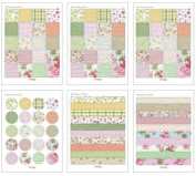 Flowers Sticker Set Blooming Style - 6 Creative sheets for Scrapbooking