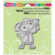 Stampendous Cling Rubber Stamp 8.9cm x 10cm Sheet-Graduation Kiddo