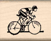 Bicycle Road Racer Rubber Stamp - 2.5cm x 2.5cm - 0.6cm