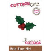 CottageCutz Mini Die 4.4cm x 4.4cm -Holly Berry Made Easy