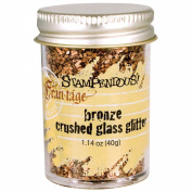 Stampendous Crushed Glitter Glass, Bronze Colour