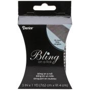 Bling On A Roll 3mm X 1yd-18 Row, Black/Silver