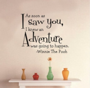 Toprate(TM) As soon as I saw you, I knew an adventure was going to happen - Winnie the Pooh - Removeable Wall Decal - 48cm H X 60cm W