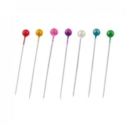 Amico 480 Pcs Assorted Colour 37mm Length Ball Head Straight Pins Decorations