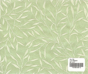 LILY GREEN - Flocked willow mulberry paper