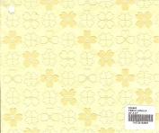 FRENCH VANILLA - Flocked Dogwood Print Paper