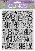 Hero Arts Number Pattern Cling Stamp