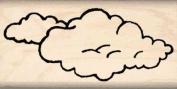 Clouds Rubber Stamp - 2.5cm x 5.1cm