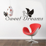 Toprate(TM) 70cm x 23cm Sweet Dreams Butterfly Quote Words Room Art Mural Wall Sticker Decal,For Bedroom House