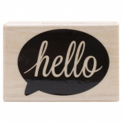Hero Arts Mounted Rubber Stamps 5.1cm x 3.8cm -Hello Bubble