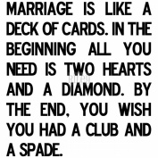 Riley & Company Funny Bones Cling Mounted Stamp 5.4cm x 5.7cm -Marriage Is Like A Deck Of Cards