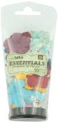 Prima 539863 Water Colour Rainbow Flower Embellishments, Essentials Small