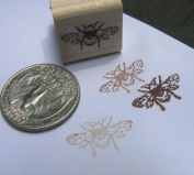 Miniature bee rubber stamp