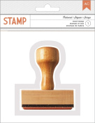 American Crafts Autumn Crisp Redwood Thanks Wood Phrase Stamp