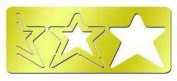 American Traditional Designs - 3 in 1 Cut & Fold Template - Triple Star