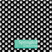 DOG PAW PATTERN Black & White Craft Vinyl 3 sheets 6x6 for Vinyl Cutters