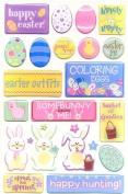 Happy Easter Epoxy Scrapbook Stickers