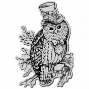 Stampendous Halloween Cling Rubber Stamp-Steampunk Owl
