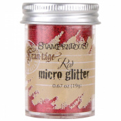Stampendous Micro Glitter .1980ml-Red
