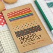 27 Sheets Korea Pretty Masking Sticker Set - Colourful Sticker Set -Basic