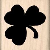Shamrock Rubber Stamp - 2.5cm - 1.3cm x 2.5cm - 1.3cm