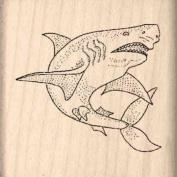 Shark Rubber Stamp - 2.5cm - 1.3cm x 2.5cm - 1.3cm
