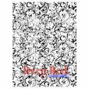 Deep Red Cling Stamp 7.6cm x 10cm -Grunge Swirl Background