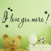 """Toprate(TM) """" I Love You More """" Love Heart DIY Removable Wall Decal for Living Room Bedroom Vinyl Wall Sticker Art Home Decoration"""