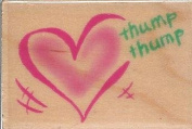 Beating Heart Wood Mounted Rubber Stamp