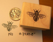 Small Bee rubber stamp WM P32