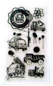 Toy trucks // Clear stamps pack (10cm x 18cm ) FLONZ