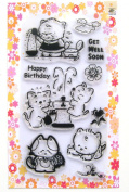 Kitten and fountain // Clear stamps pack (10cm x 18cm ) FLONZ