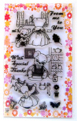 Bear Mommy // Clear stamps pack (10cm x 18cm ) FLONZ