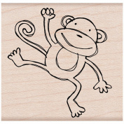 Hero Arts HA-E4953 Hero Arts Mounted Rubber Stamps 2X2-Playful Monkey