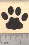 Large Cat Paw Print Rubber Stamp