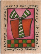 Christmas Present Wood Mounted Rubber Stamp