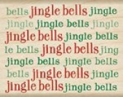 Jingle Bells Wood Mounted Rubber Stamp