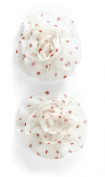 Jolee's Boutique Dimensional Stickers, White with Red Polka Dots Flowers