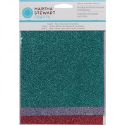 Martha Stewart Glitter Sheets 6'X7' 6/Pkg Gemstones Silver, Gold & Black
